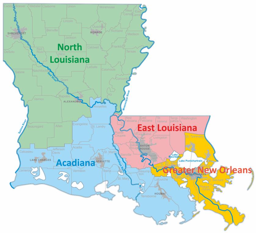 LA region map