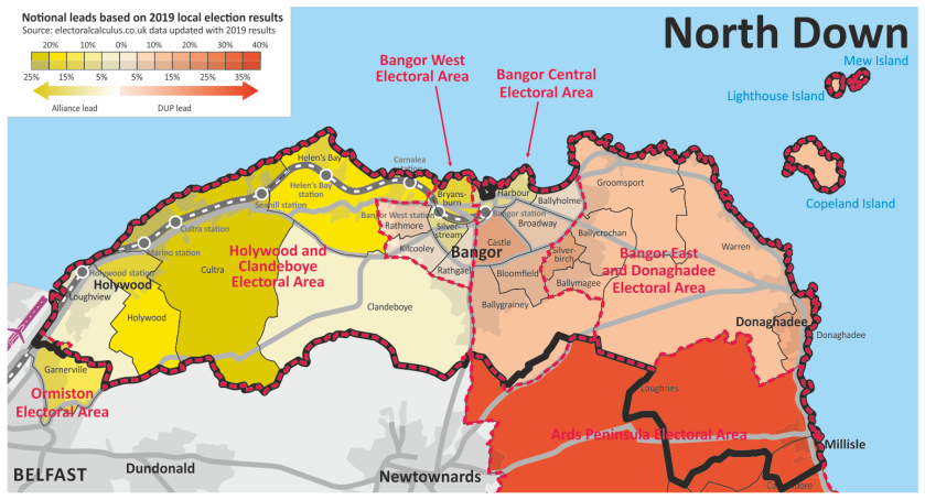 North Down map