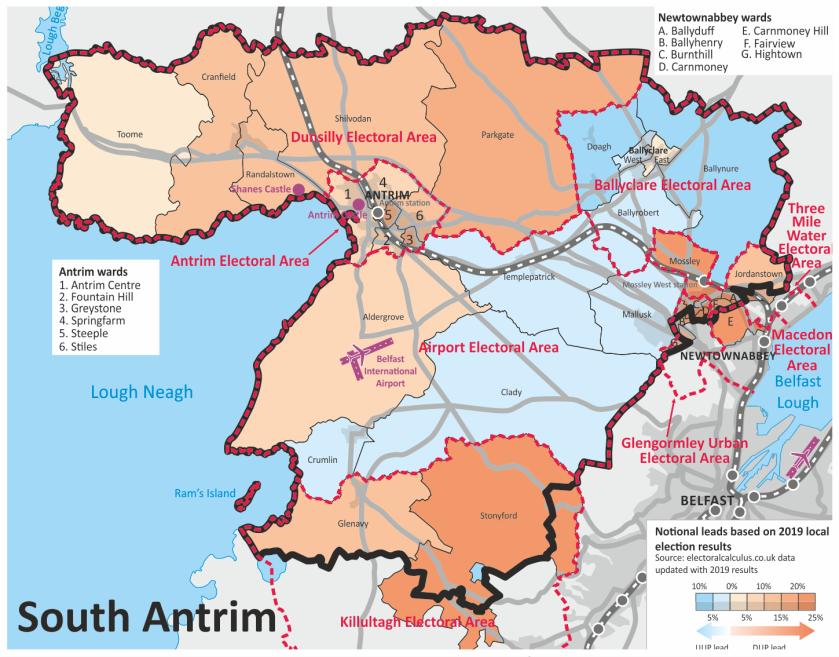 South Antrim map